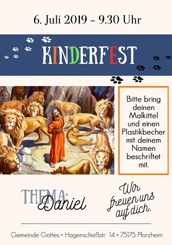 Einladung Kinderfest 2019