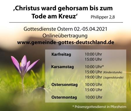 Einladung Osterfest 2021
